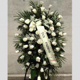Centro Medallón de Rosas Blancas