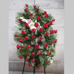 Centro Medallón de rosas Rojas