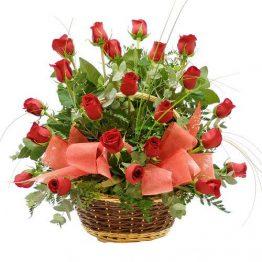 Cesta de 25 rosas Rojas