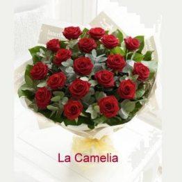 Ramo 18 rosas ROJAS calidad Extra