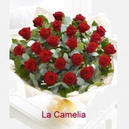 Ramo 24 Rosas ROJAS calidad Extra
