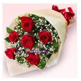 Ramo 6 rosas rojas. floristeria Vigo