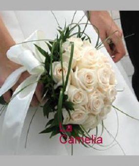 Ramo de novia bouquet rosas blancas