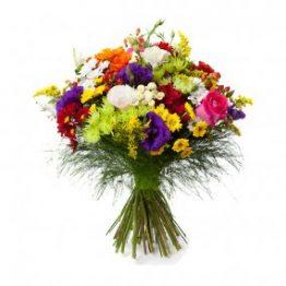 Ramo primaveral de flores con color