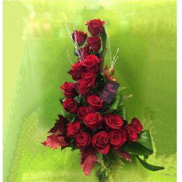 Centro, de, rosas, rojas, Vigo