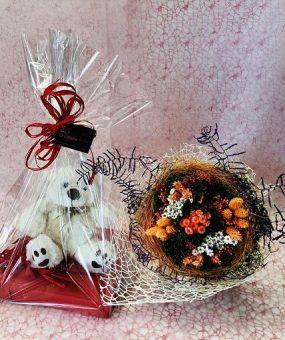 Bouquet de Flores Secas + Peluche + Bombones