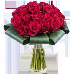Bouquet con 35 rosas rojas