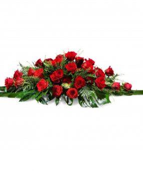 Almohadón de rosas rojas Vigo